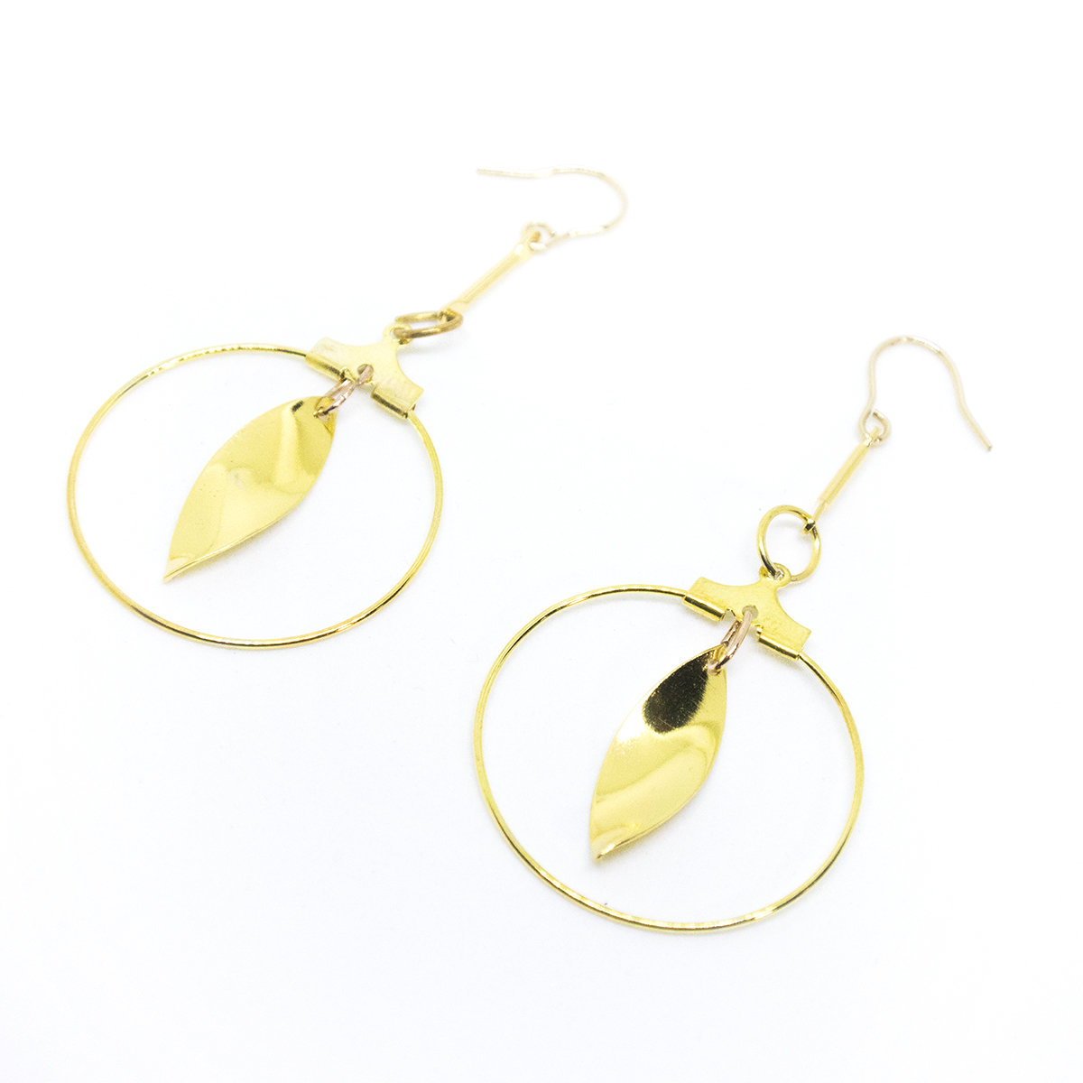 Cat eyes — 14k hook, Gold plating, handmade jewellery