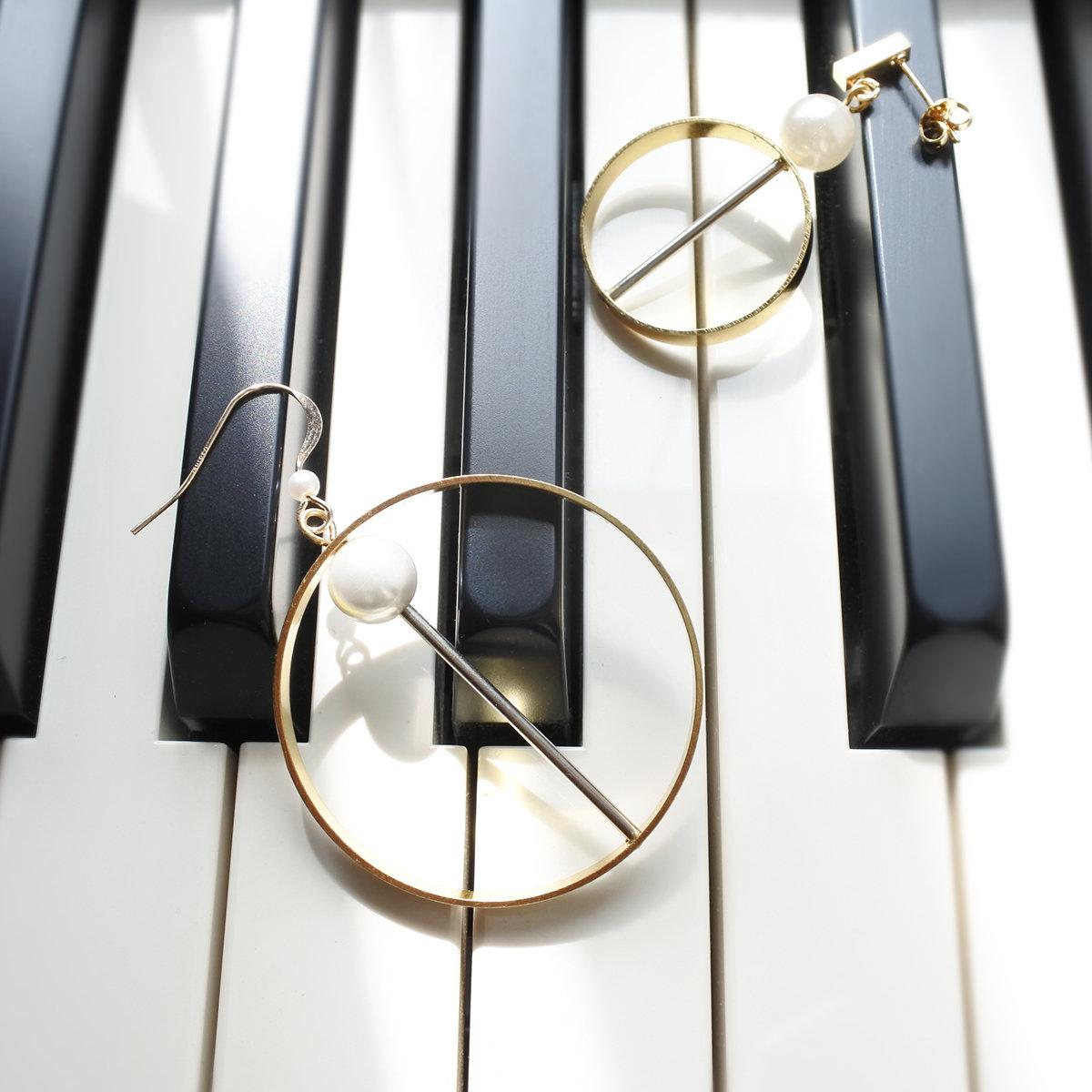 Asymmetrical earrings — designer shop, hongkong, gift