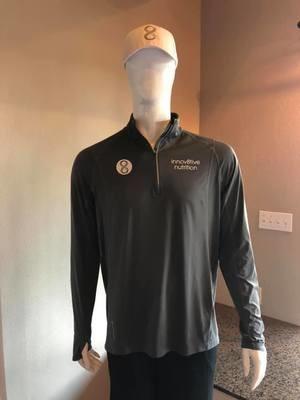 Gray 1/4 Zip Fitness Pullover