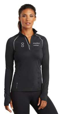 Womens Black Pullover 1/4 Zip