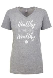 Healthy/Wealthy V-neck