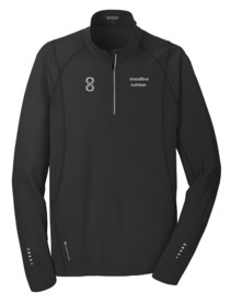 Mens Black Pullover 1/4 zip
