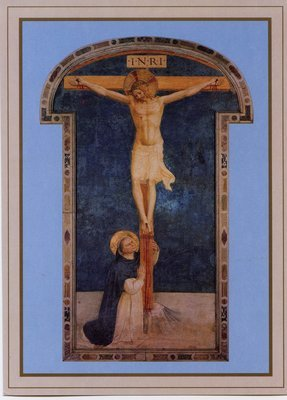 St. Dominic Adoring the Crucifixion Holy Card (Ten Pack)