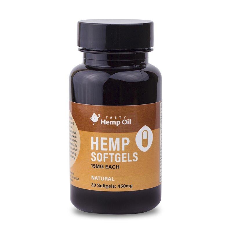 Tasty Hemp Oil: Hemp Softgels 30ct (450mg)