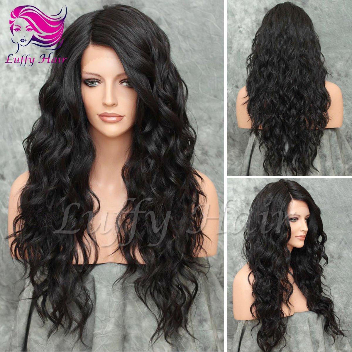 8A Virgin Human Hair 180% Density Natural Wave Wig - KWL012