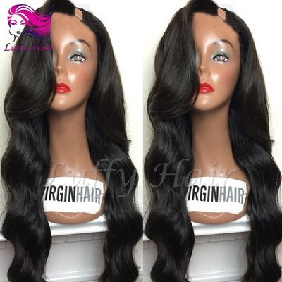 8A Virgin Human Hair Natural Wave U Part Wig - KWU031