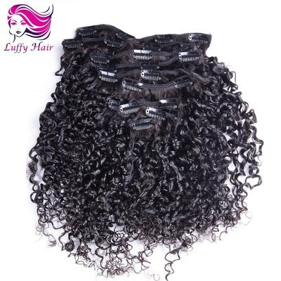 8A Virgin Human Hair Tight Curly Clip In Hair Extensions - KIL008