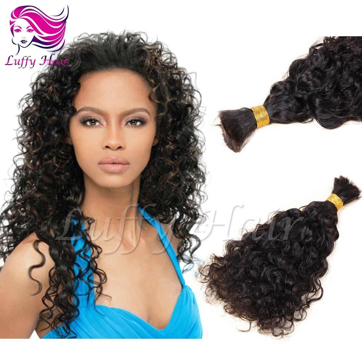 8A Virgin Human Hair Curly Braiding Hair Bulk - KBL001
