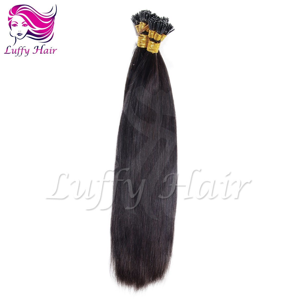 10A Virgin Human Hair Silky Straight Fusion Hair Extensions - KFL004