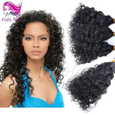 8A Virgin Human Hair Curly Fusion Hair Extensions - KFL011