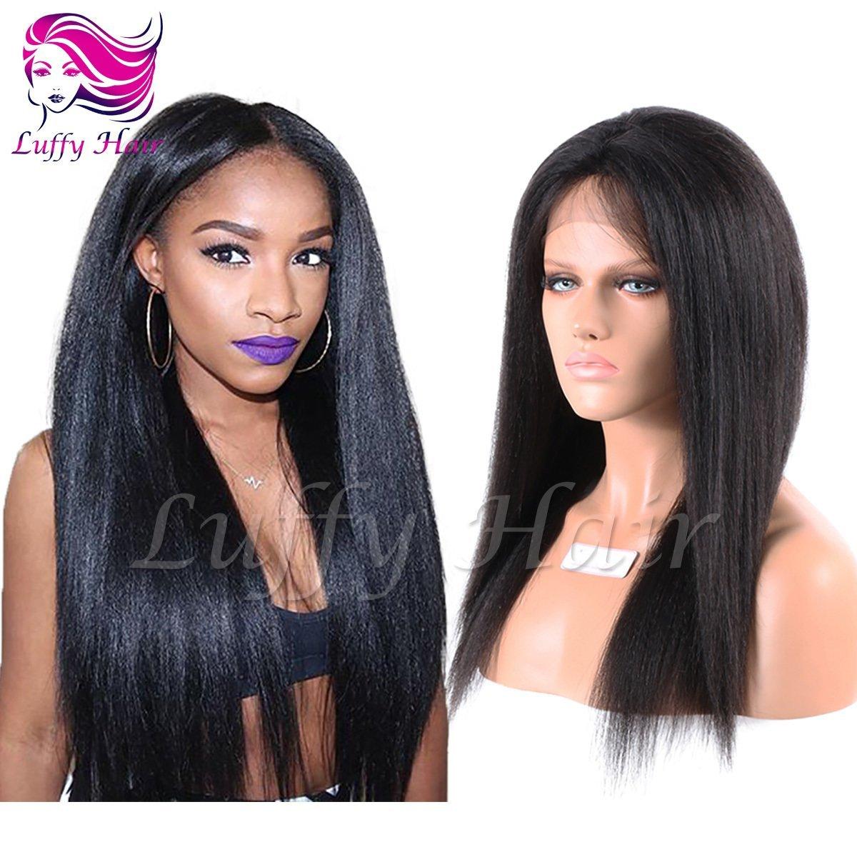 8A Virgin Human Hair Italian Yaki Straight Wig - KWL028