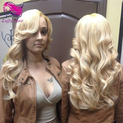 10A Virgin Human Hair Color #613 Body Wave Wig- KWL017
