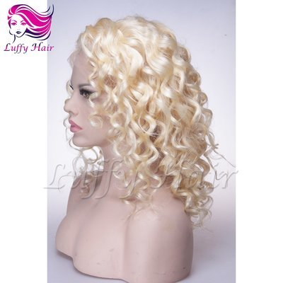 10A Virgin Human Hair Color #613 Body Wave Wig- KWL073