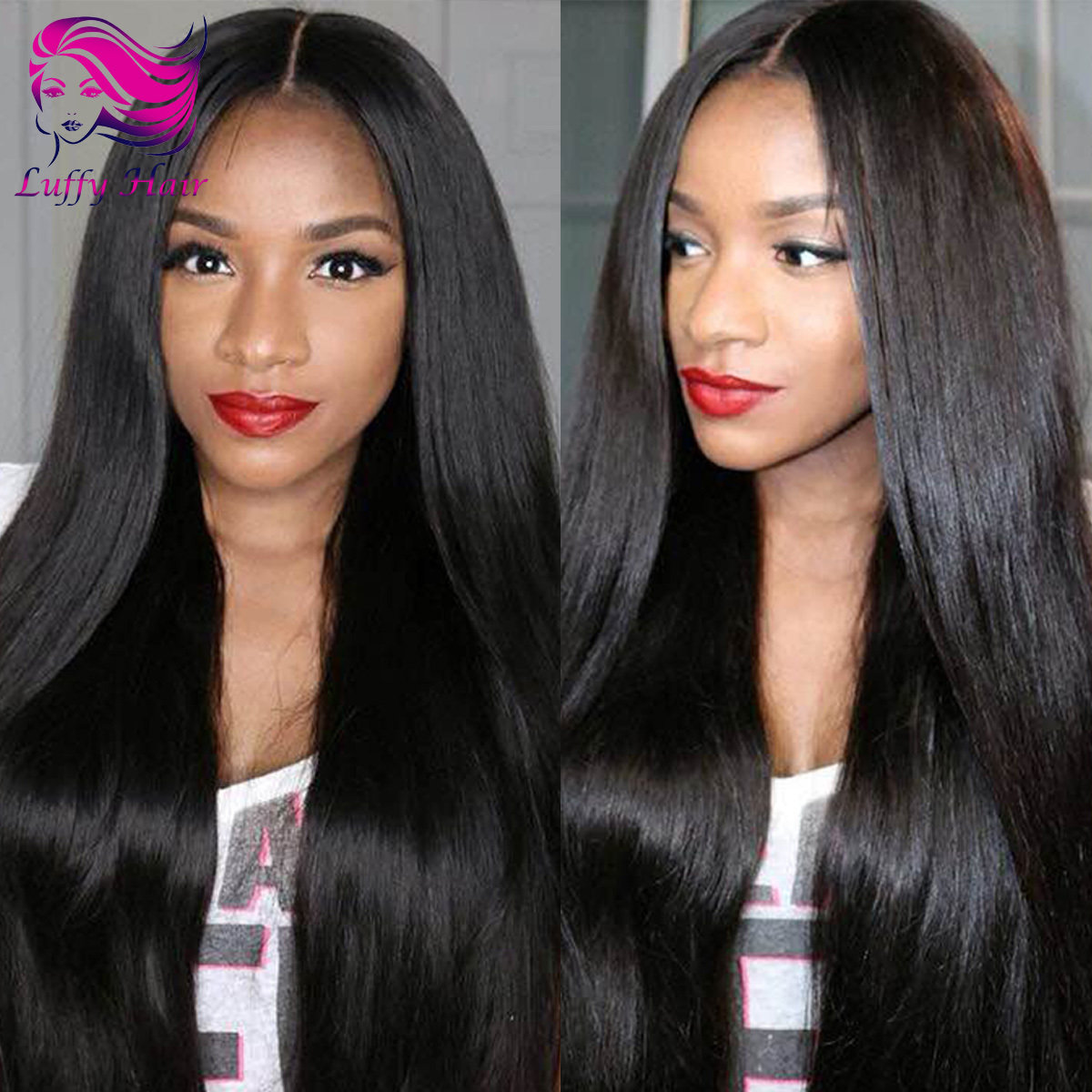 8A Virgin Human Hair 180% Density Silky Straight Wig - KWL011