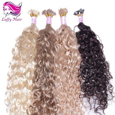 8A Virgin Human Hair Water Wave Fusion Hair Extensions - KFL007
