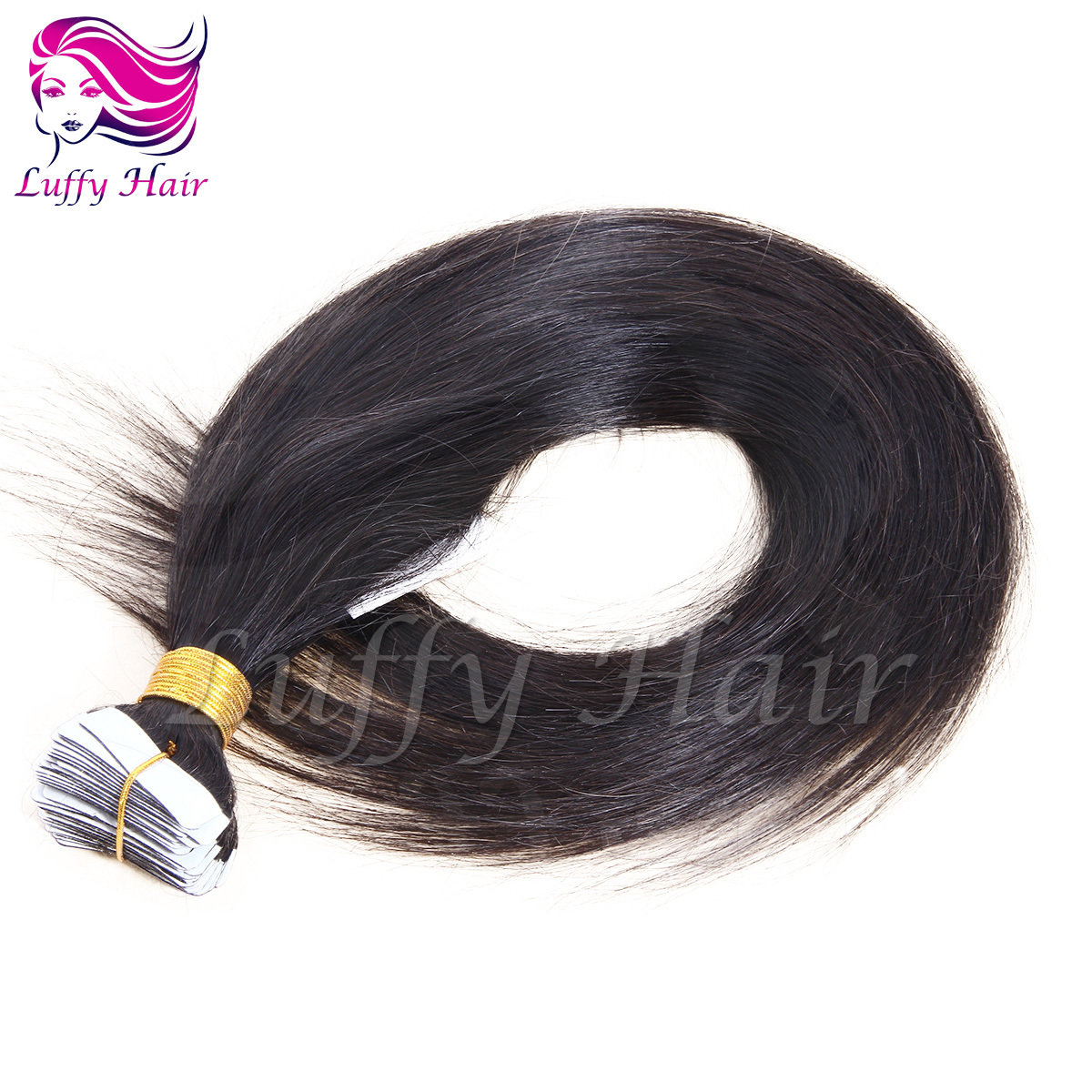 8A Virgin Human Hair Silky Straight Tape In Hair Extensions - KTL001