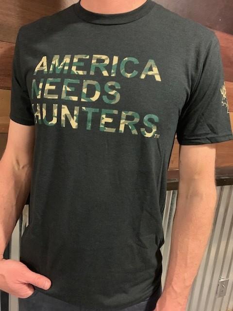 America Needs Hunters T-Shirt Black/Camo