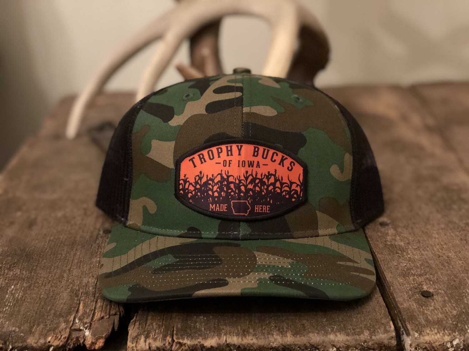 "Camo and Orange ""Made Here"""