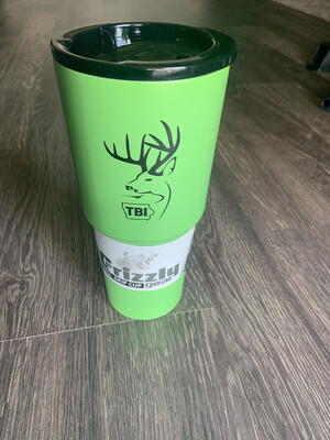 32 oz. Lime Green Grizzly Grip w/black logo