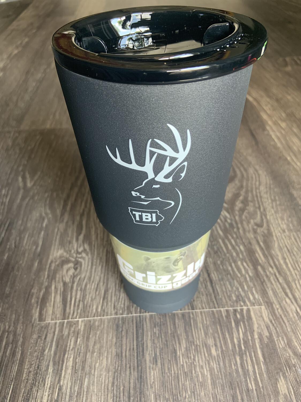 32 oz. Charcoal Grizzly Grip w/white logo