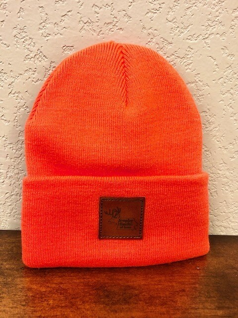 TBI Stocking Hat with Leather Patch