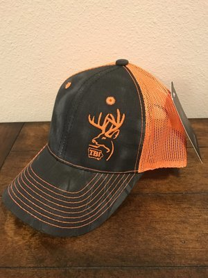 Blaze Orange / Black Kryptek Camo TBI Hat