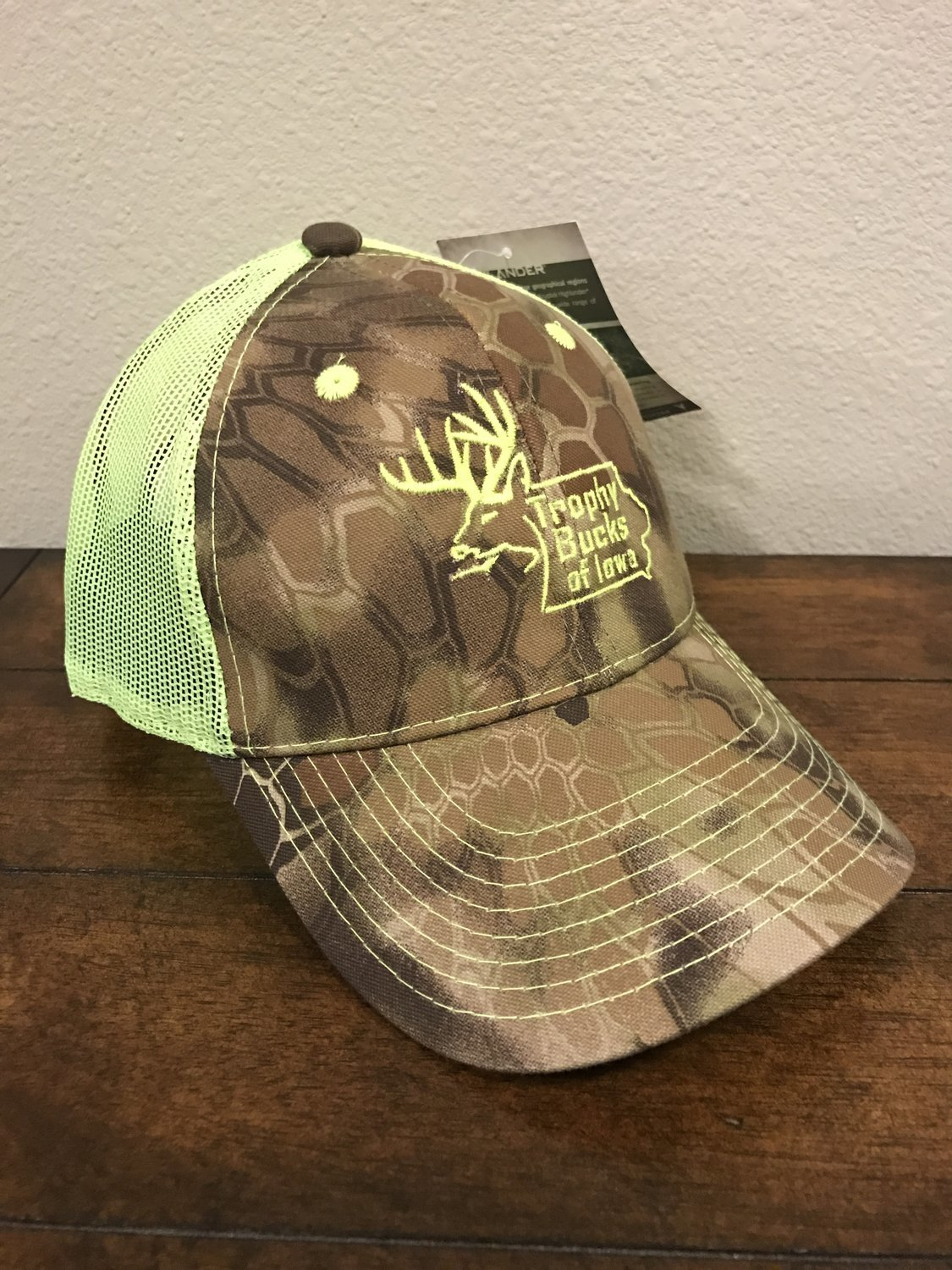 Neon Green / Kryptek Camo Hat