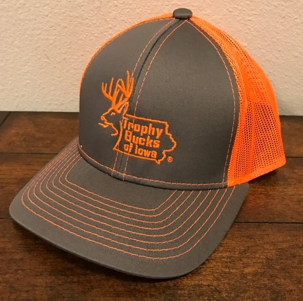 Blaze Orange / Grey TBI Hat