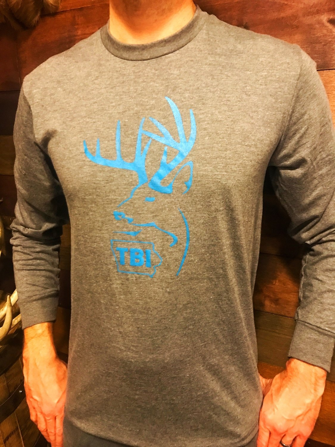 TBI Grey / Blue Long Sleeve T-Shirt