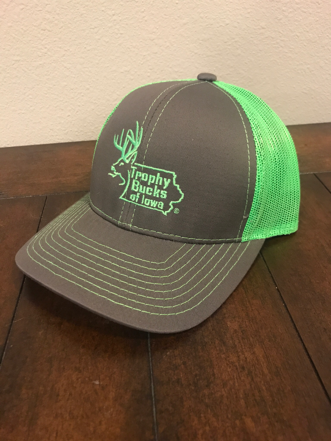 Neon Green / Grey TBI Hat
