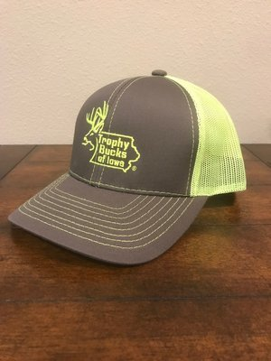 Neon Yellow / Grey TBI Hat