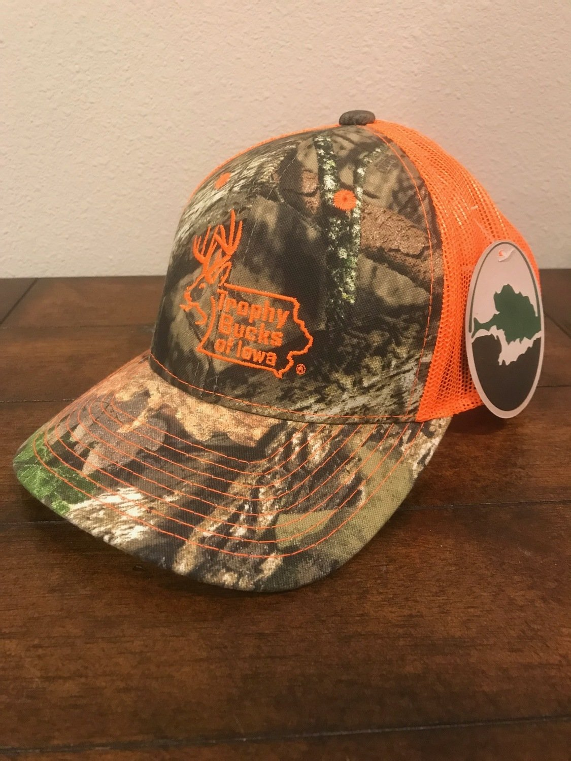Blaze Orange / Mossy Oak TBI Hat