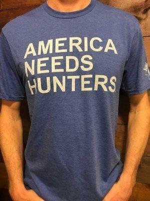 America Needs Hunters T-Shirt Blue/White