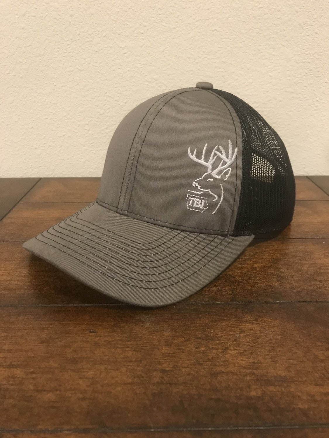 Grey / Black/ White TBI Hat