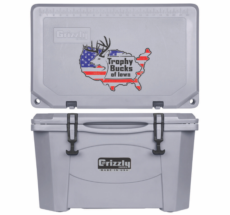Grizzly G40 (40 quart) TBI USA Logo Gray