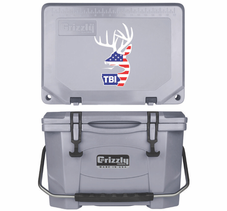 Grizzly G20 (20 quart) TBI USA Alt Logo Gray