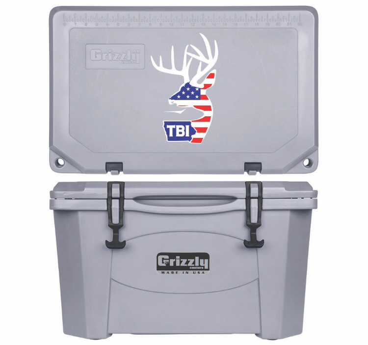 Grizzly G40 (40 quart) TBI USA Alt Logo Gray