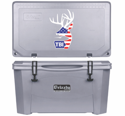 Grizzly G60 (60 quart) TBI USA Alt Logo Gray