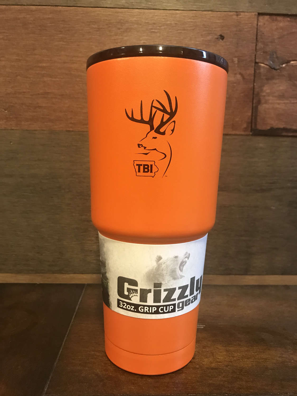 Orange/Black TBI 32 oz Grizzly Grip
