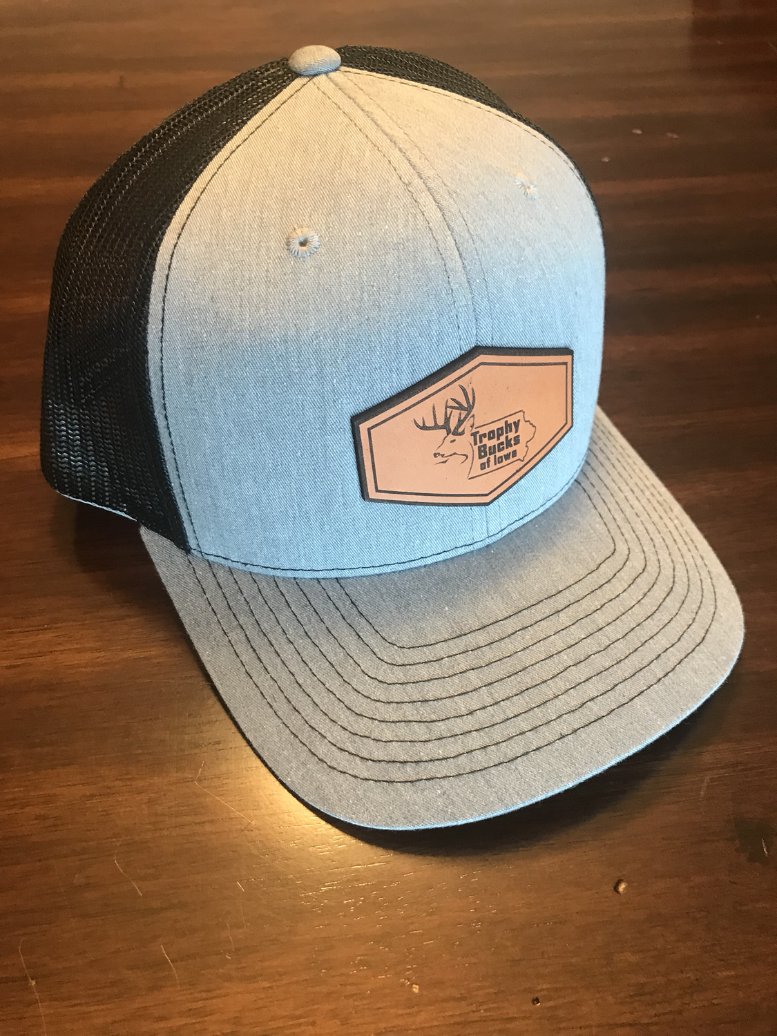Grey / Leather patch TBI hat