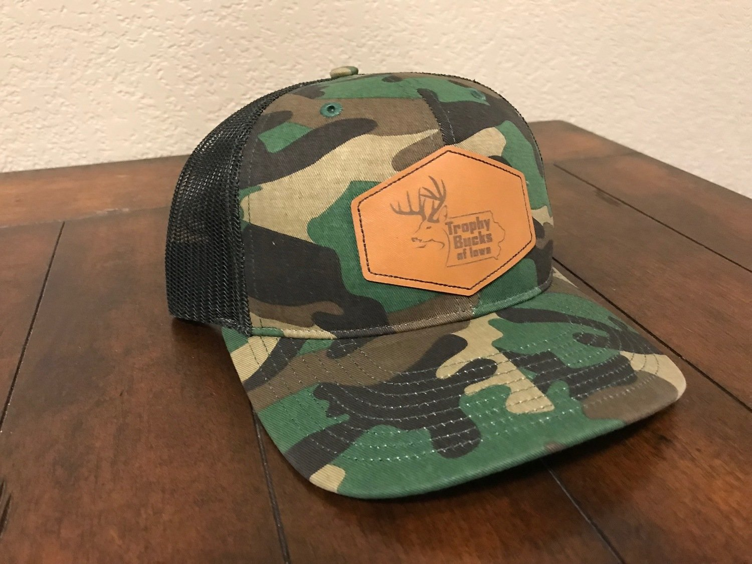 Camo / Brown Patch Hat
