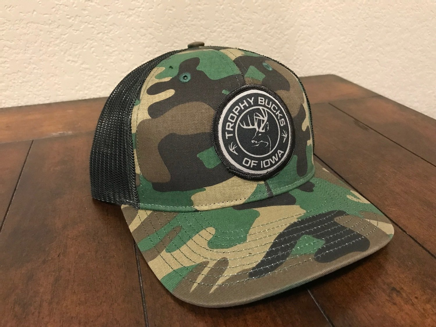 Camo / Black Patch Hat