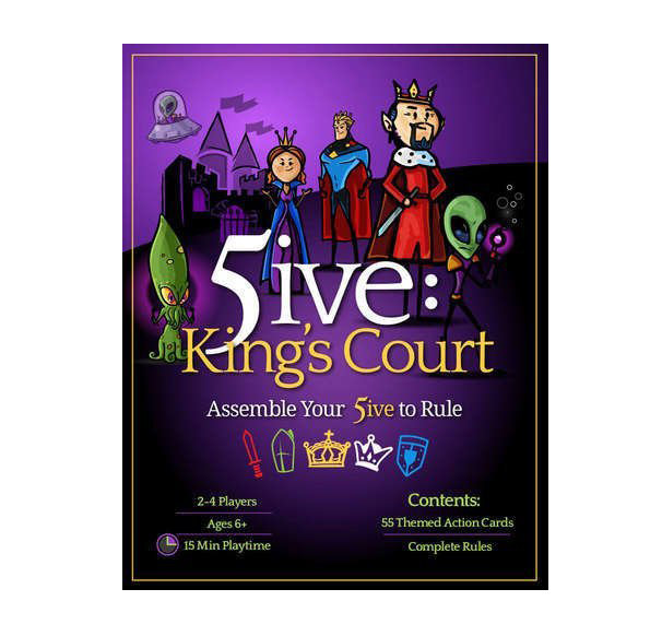 5ive: King's Court 2-4 Player Card Game