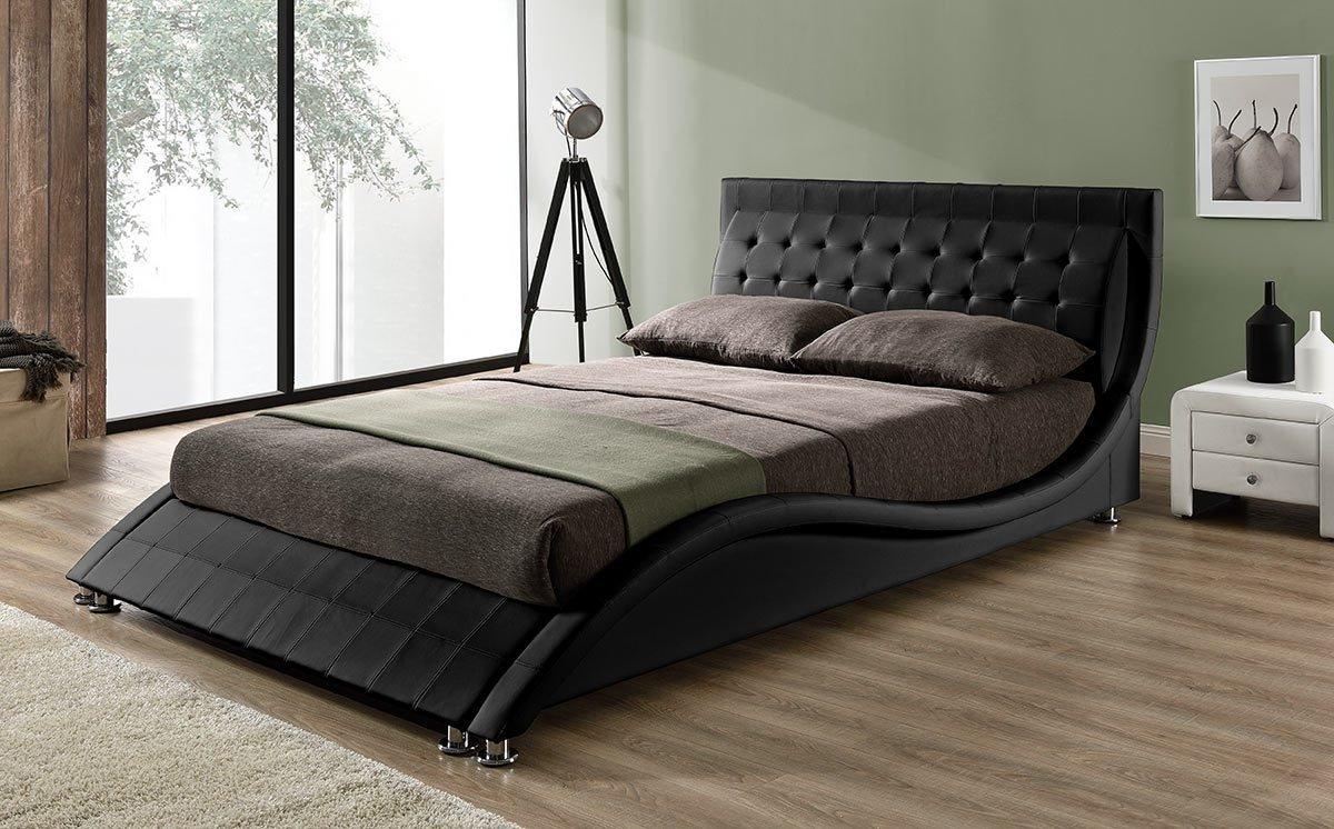 andorra designer bed frame black - Designer Bed Frames
