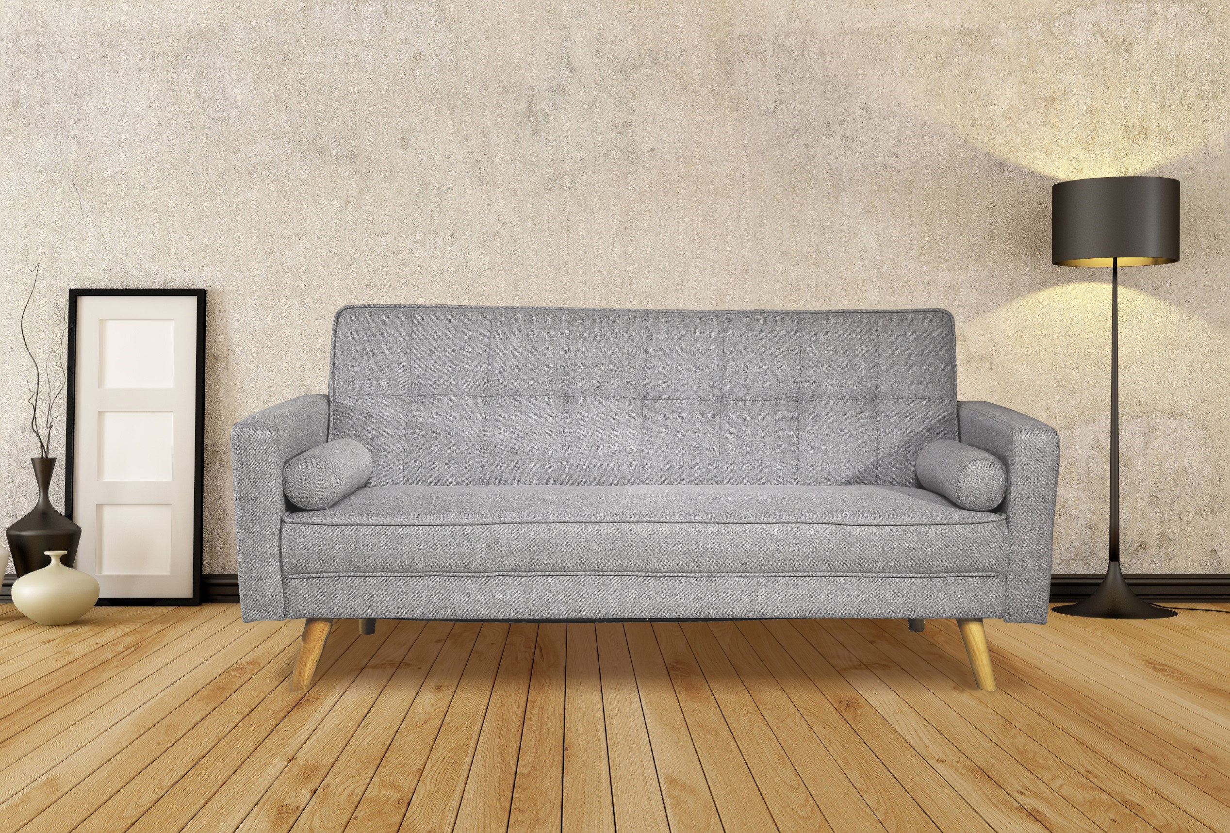 Boston 3 seater fabric sofa bed light grey or charcoal this stylish modern boston fabric sofa bed comes in either light grey or charcoal dark grey it would make a stunning addition to any home amipublicfo Choice Image