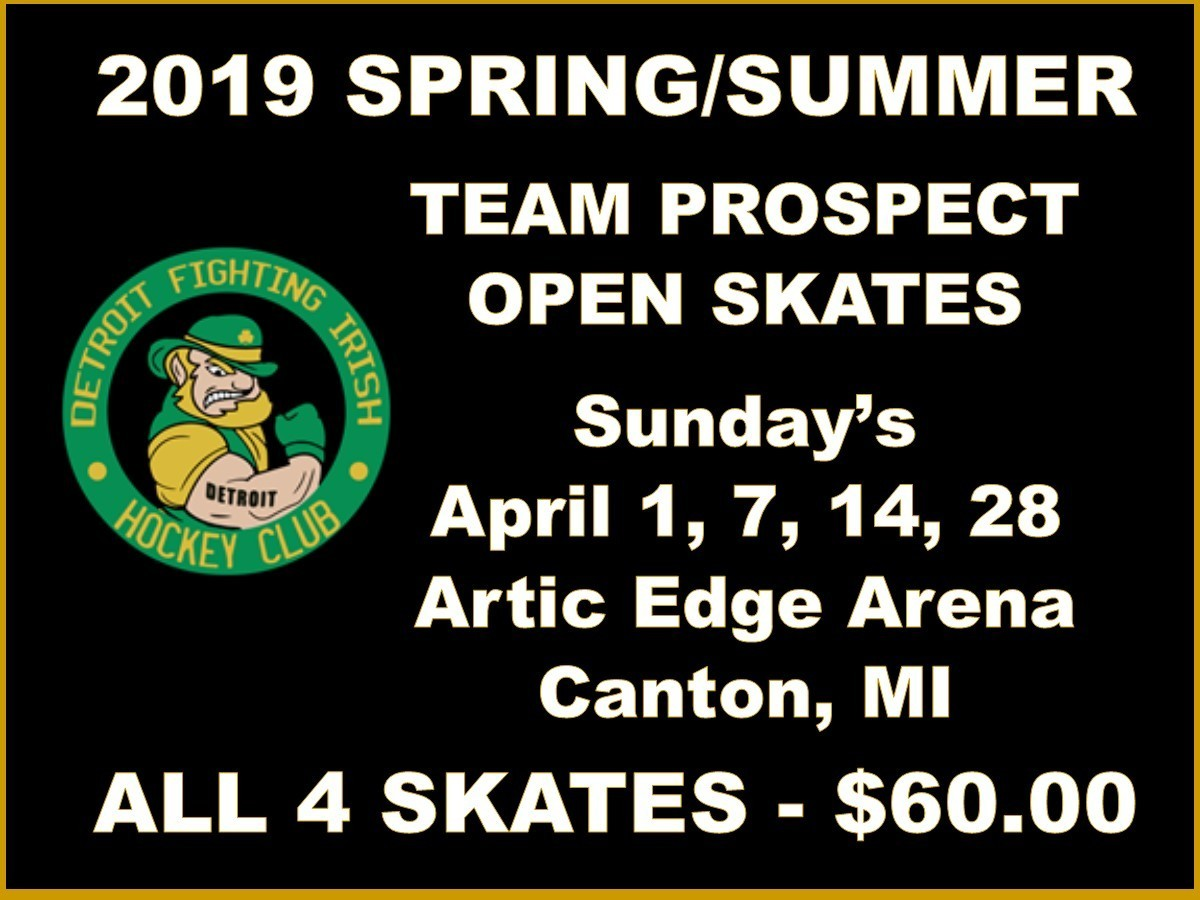 2019 SPRING/SUMMER TEAM PROSPECT OPEN SKATES - All 4 Skates $60.00