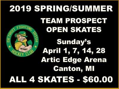 2019 SPRING/SUMMER TEAM PROSPECT OPEN SKATES - All 4 Skates $60.00