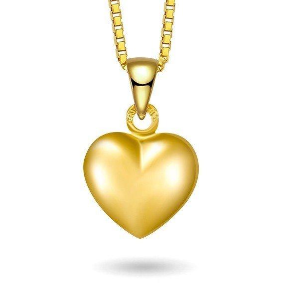 Hjerte halskjedet i gull