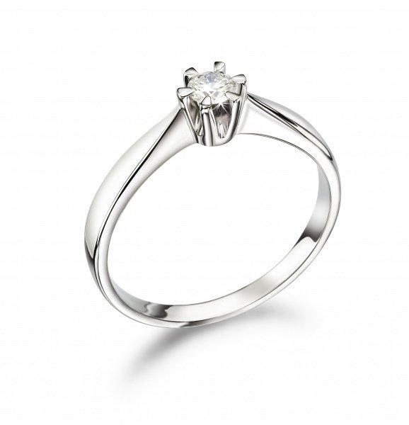 Enstens diamantring 0.20ct TW SI