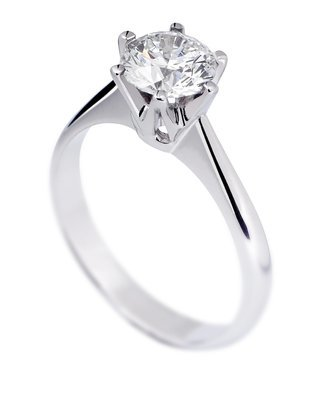 Ensten diamantring 0,55ct TW SI